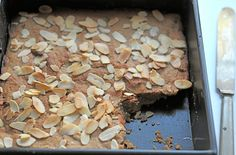 Chestnut flour cake is scented with orange and almonds