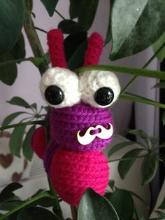 'Movember' Alastair the Caterpillar (FreshStitches)