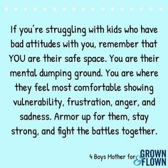 Parenting reminder Sometimes it can be hard to remember that your kids often don't understand their big emotions – and it's our job as parents to help them! Teacher Quotes, Mom Quotes, Life Quotes, Quotes Kids, Daughter Quotes, Family Quotes, Success Quotes, Funny Quotes, Parenting Advice