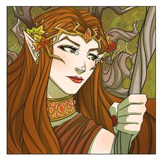 New Critical Role art by Kit Buss: Keyleth the half-elven druid