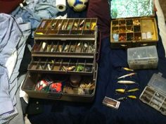 Big Vintage Lot Fishing LURE lures tackle by ASHLANDOREGONANTIQUE