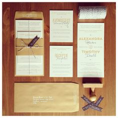 Wedding Invitations. Could use the plaid as a wrap.
