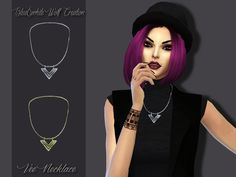 1 Necklace in gold and silver version  Found in TSR Category 'Sims 4 Female…