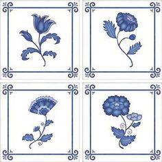 Delft - Idea Stix Tile Decals Self stick decal for bath or kitchen tiles. Easy to place over plain tiles. Asian Wall Decals, Bathroom Wall Stickers, Tile Decals, Wall Stickers Home, Wall Stickers Murals, Mirror Mosaic, Mosaic Wall, Delft, Blue And White Wallpaper