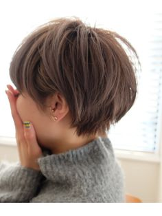 Bobs and Pixie Haircuts- 2019 latest hairstyle for summer - Page 32 of 39 - Dazhimen Short Sassy Hair, Medium Short Hair, Girl Short Hair, Short Hair Cuts, Short Hair Styles, Short Pixie, Japanese Short Hair, Corte Y Color, Hair Color And Cut