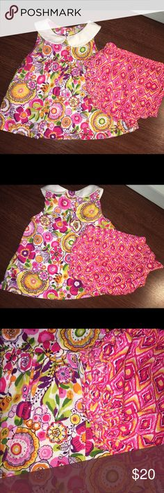 Vera Bradley Baby 2 Piece Flowered Dress This is such an adorable piece, it is Vera Bradley Baby and is 0-3 months. Two piece set, comes with top and bottoms. Bottoms have a very cute riddle design on the butt. Vera Bradley Matching Sets