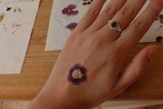 pressed flower tattoos tutorial