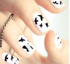 Blackbird nails #nailart