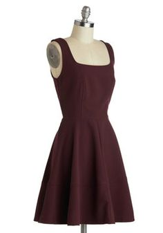 Staying Classy Dress, #ModCloth - Perfect colour for fall! I love the cut with the low back as well :)