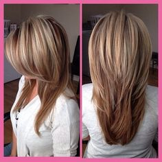 This season has brought a lot of new designs to long straight hair. Like the tre… This season has brought a lot of new designs to long straight hair. Like the trendy short hairstyle last year, we can also have an asymmetric cut for long hair. Hair Styles 2016, Medium Hair Styles, Short Hair Styles, Long Hair Short Layers, Hair Medium, Long Straight Layers, Long Cut, Cute Hair Cuts Long, Hair Styles Long Layers