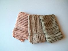Dish Cloths Knit in Cotton in Peach Blossom and by TheNeedleHouse, $12.00