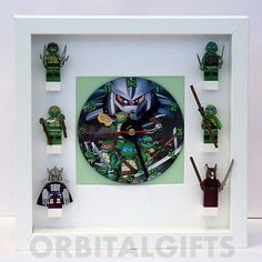 #Teenage #mutant ninja turtles tmnt minifigure framed cd clock #(fits lego), View more on the LINK: http://www.zeppy.io/product/gb/2/121936437052/