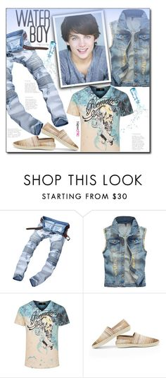 """""""Newchic (21/V)"""" by dorinela-hamamci ❤ liked on Polyvore featuring men's fashion, menswear, denim, youngmalestyle and teenageboys"""