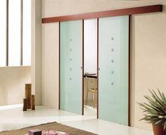 Sliding Glass Door - I like the wooden top hiding the mechanics of the door