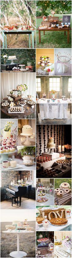 Ideas para diseñar la mesa de postres en vuestra boda