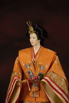 """Yuna: Japanese woman in """"Junihitoe"""", a court dress from the Heian period."""