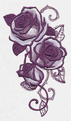 ut10123  Briar Rose - Rose Cascade | Urban Threads: Unique and Awesome Embroidery Designs