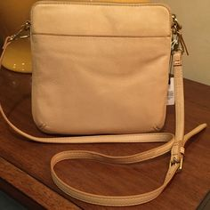 NWT Fossil Leather Crossbody. Gorgeous Bag! NWT Fossil Leather Crossbody. Gorgeous Bag! Very soft leather. Not sure I want to part with this one! #7-0-87 Fossil Bags Crossbody Bags
