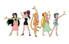 """erinkkavanagh: """"Some of my favorite outfits from the 90s Sailor Moon anime"""
