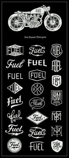 A lesson learned in creative fluency.  Fuel Motorcycles - New logo by BMD Design , via Behance