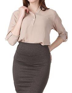 Regna X Love Coated Womens V-Neck Sleeveless Summer Chiffon Styles, Plus Asos Fashion, Half Sleeves, Button Up, V Neck, Amazon, Formal, Blouse, Skirts, Women