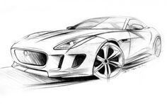 Jaguar C-X16 Concept Diseño Bosquejo