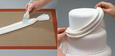 How-To Make Fondant Swags on Fondant