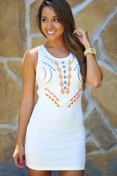 Sweetly Tempting Dress: Ivory | Hope's