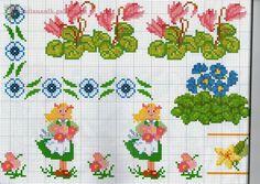 أرشيف الألبومات - I motivi più belli a punto croce. Cross Stitch Borders, Cross Stitch Flowers, Cross Stitch Designs, Cross Stitching, Cross Stitch Patterns, Knitting Patterns, Embroidery Art, Cross Stitch Embroidery, Loom Beading