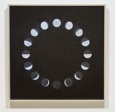 Christopher Badger: Shadow Phase Chalk and oil on gessoed panel, 84 x 84 inches, 2013