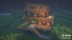 Casa Medieval Minecraft, Minecraft House Plans, Minecraft Cottage, Minecraft Houses Survival, Easy Minecraft Houses, Minecraft House Tutorials, Minecraft Houses Blueprints, Minecraft House Designs, Minecraft Water House