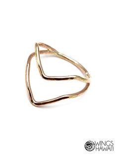 Double Boomerang Ring