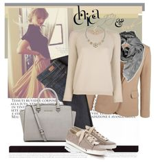 """Grey and Nude"" by zoenian on Polyvore"