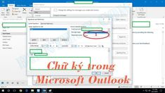Cách tạo và thêm chữ ký trong Microsoft Outlook 2010 đến 2016 Microsoft, Offices, Bar Chart, Messages, Bar Graphs, Desks, Text Posts, Office Spaces, Bureaus