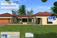 Free House Plans, House Floor Plans, Single Storey House Plans, All Design, House Design, My Dream Home, Dream Homes, 4 Bedroom House Plans, Site Plans