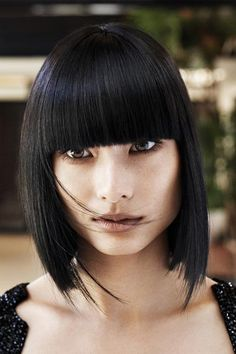 Blunt Bob slightly angled | Hair Style Trends and Tips