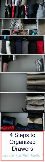 Use the KonMari Method to Organize your drawers in 4 easy steps. Keeping your clothes organized is as easy as ever