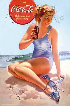 Coke Summer vintage ad #nanno