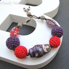 Mother's Day gift Russian Doll bracelet  kitsch by BeadyDaze