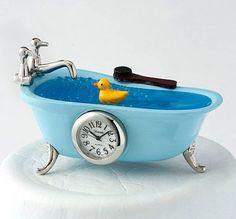 Mini Bathtub Clock