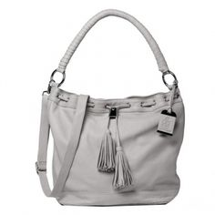 Casual grey Bucket Bag  IT piece of the season. Soft leather with elaborately wrapped shoulder straps. A ccommodates everything we need in a long day in the City. Suits any business ensemble, as well as with jeans or Suit Dress. Is on our wish list very top. €379.00