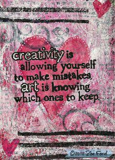 ACEO Original Creativity Mixed Media Art Card by TopFloorTreasures, $6.00