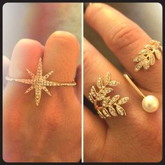 Brand new ring double ring set. Brand new double ring set!! Size 7 (could fit a 6) Boutique Jewelry Rings