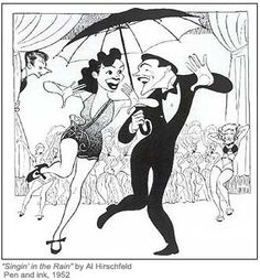 Singing in the Rain ~ by Al Hirschfeld