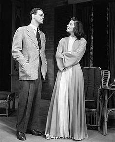 Joseph Cotten and Katharine Hepburn on Broadway in The Philadelphia Story (1939)