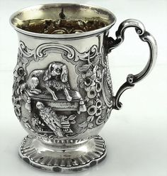 Child's cup antique sterling silver English James Charles Edington London 1857