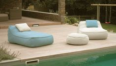 Bring the Living Room Outside: Outdoor Lounge Outdoor Loungers, Outdoor Daybed, Outdoor Armchair, Indoor Outdoor Living, Outdoor Chairs, Outdoor Pool Furniture, Outside Furniture Patio, Living Spaces Furniture, Space Furniture
