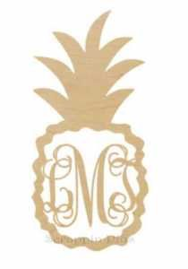We love pineapples and that includes pineapples with monograms! The wooden pineapple monogram is great to decorate bedroom walls or front doors! Monogram is app Wooden Monogram, Monogram T Shirts, Monogram Initials, Monogram Letters, Wooden Greek Letters, Family Cruise Shirts, Wooden Craft Shapes, Pineapple Monogram, Wood Animal
