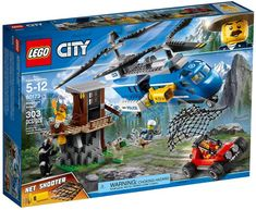 This LEGO City Mountain Arrest Set 60173 will really peak your interest. Toys R Us, Toys For Boys, Kids Toys, Lego City Police, Bergen, Legos, Quad, Lego Knights, Puzzles For Toddlers