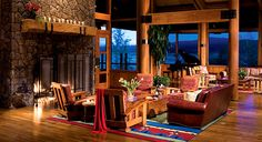 Sunriver Resort in Sunriver, OR.. Relax in the inviting Sunriver Lodge Lobby after a busy day.